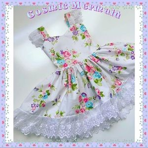 Other - 🆕🌸Floral & Lace Bow Back Party Tutu Sun Dress🌸